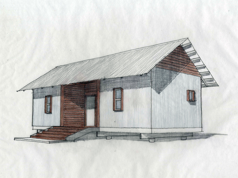 An early conceptual rendering of 20K 9.0, Mac's House.