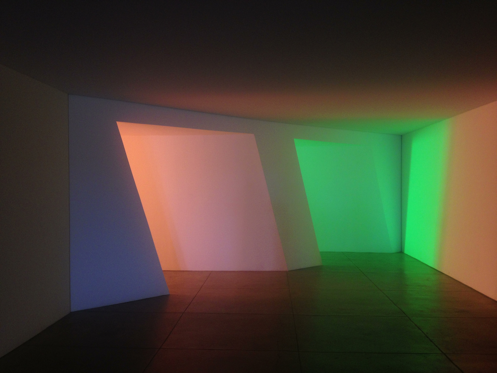 One of Flavin's pieces.