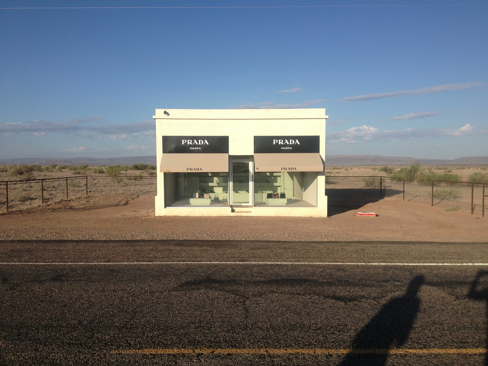 The much-discussed Prada Marfa, also on the way out of town.