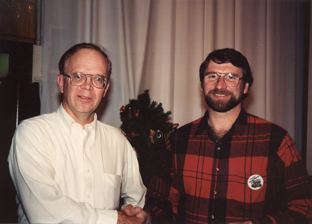 Old-school Norm Abrams (on right), via  Flickr member eiandy.