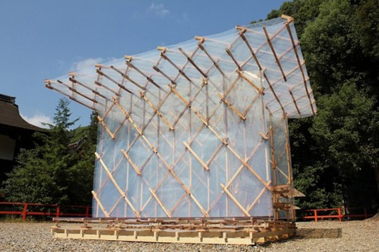 A modern pavilion based on Hojoki by architect Kengo Kuma,  via Treehugger.