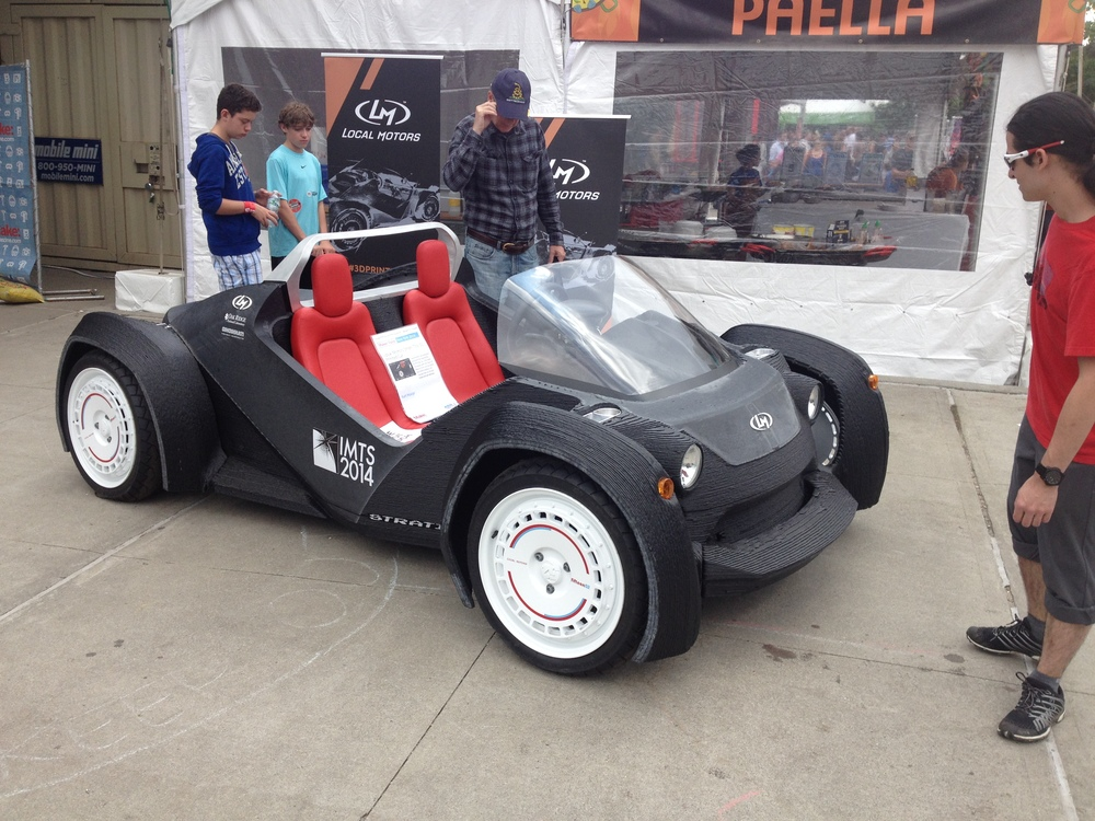 Local Motors showed  off its working 3D printed car. All-electric, less than 100 parts.