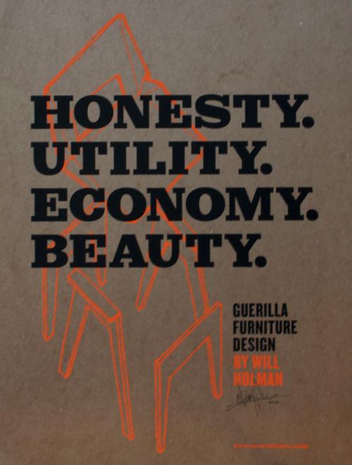 Furniture Design Poster guerilla furniture design poster (b+o) — object guerilla