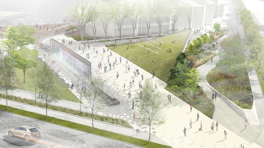 New plans for McKeldin Fountain,  via Bmore Art.