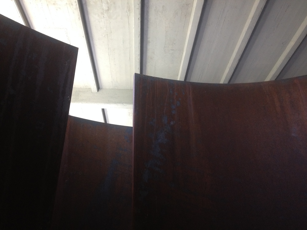 There were a half-dozen Richard Serra pieces big enough to walk inside of.