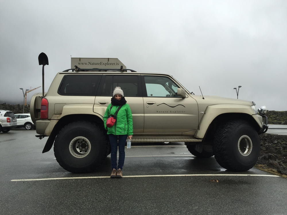 The 4x4s were no joke. Lady for scale.