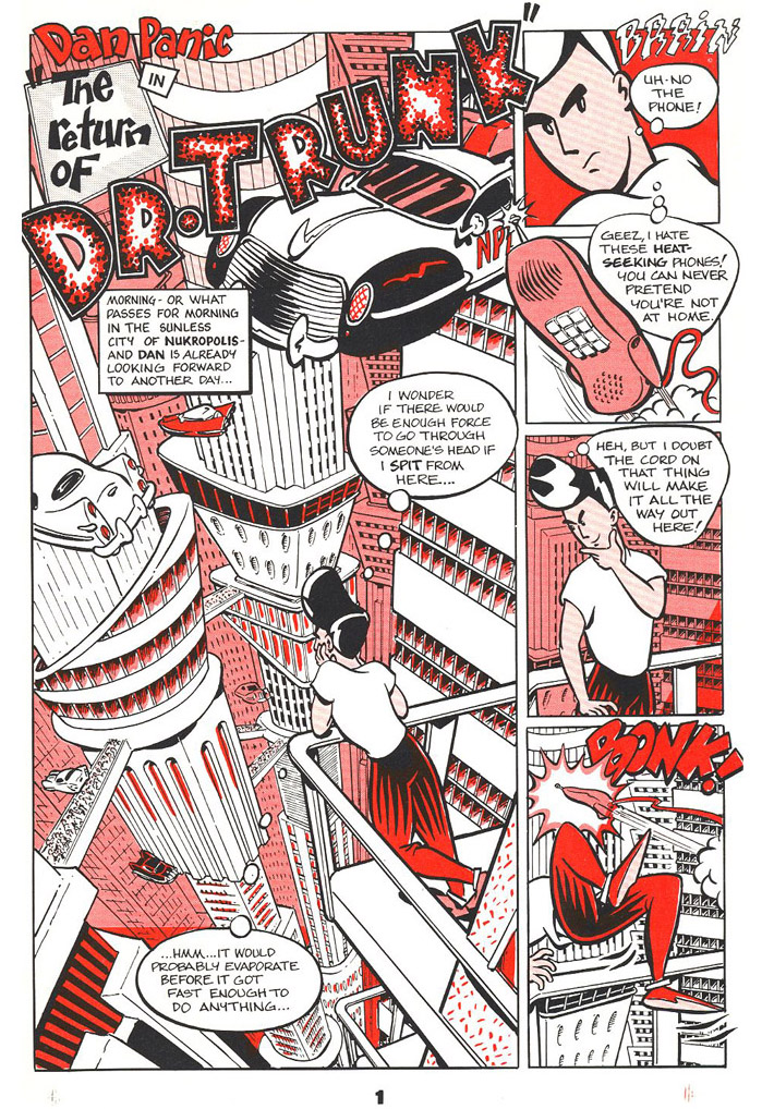 """From """"Dan Panic Funnies #1"""" 1987 (self-published looong before I came to Australia)"""