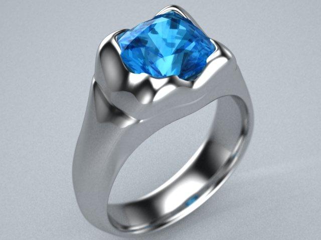 Blue saline sapphire