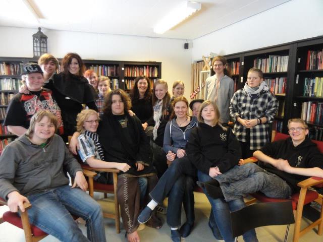 Elevhold fra Østerskov Efterskole (og Mette et sted i midten)