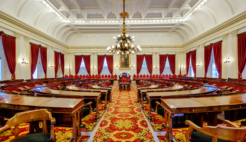 Senate Chamber inside Vermont's State House