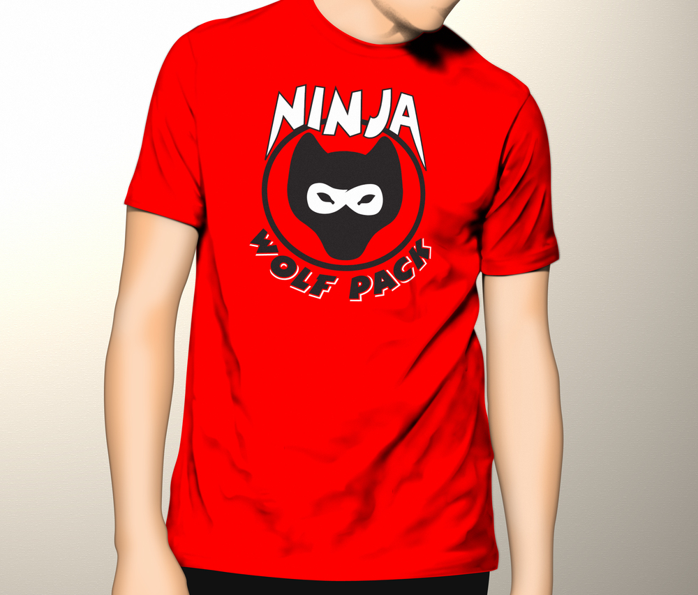 Ninja Wolf Pack T-Shirt