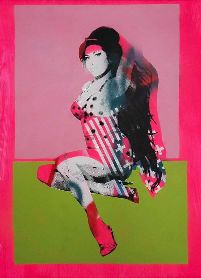 PIN UP III   (50.7 x 72 cm)  -  SOLD  Screen print and spray paint on paper