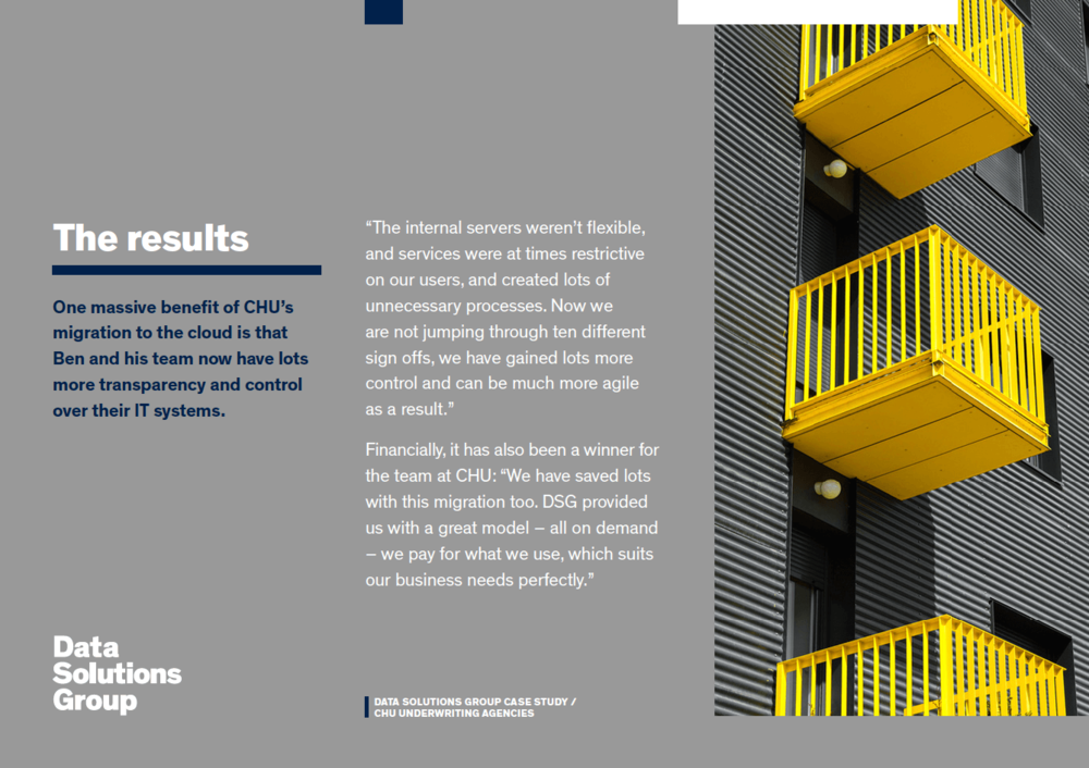Data Solutions Group<strong>Customer case study</strong>