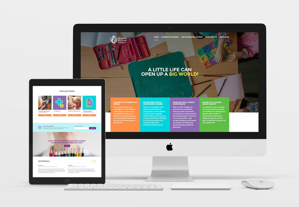 Nurture Training College<strong>Brand positioning and website</strong>