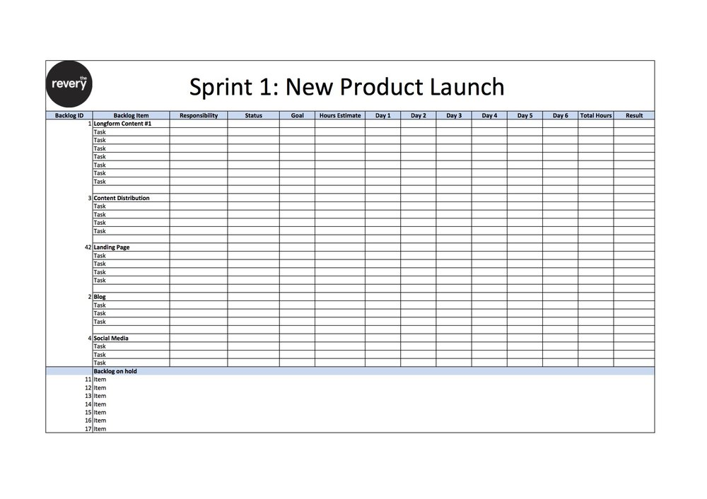 Sprint Plan