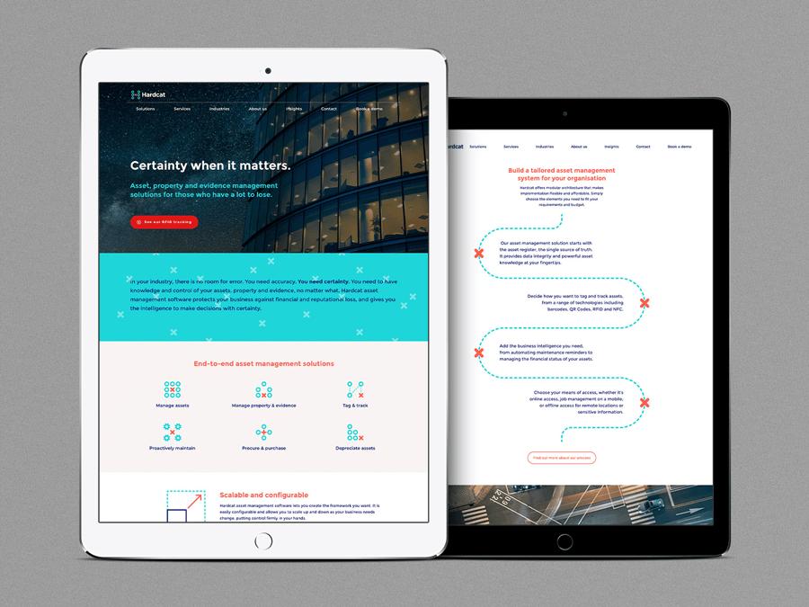 Hardcat brand positioning, visual identity and website