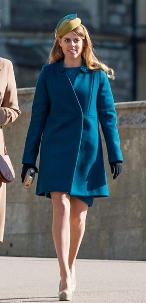 HRH Princess Beatrice of York wearing  Rachel Black hat