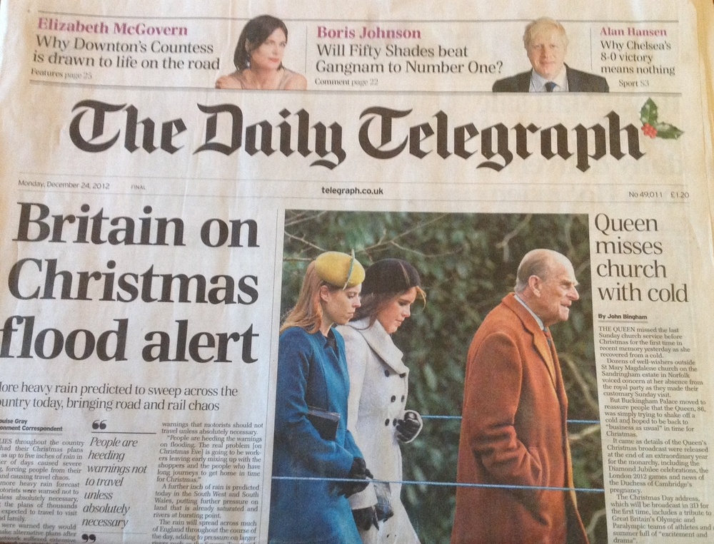 The Daily Telegraph, Dec 2012 The Daily Telegraph, HRH Princess Beatrice wearing one of our hats, Dec 2012