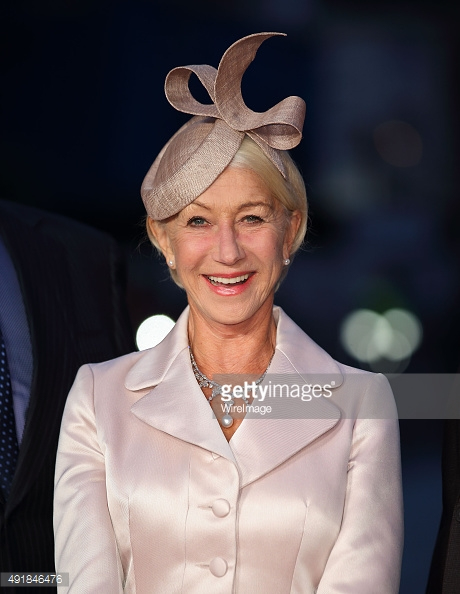 Helen Mirren wears Wishbone in straw