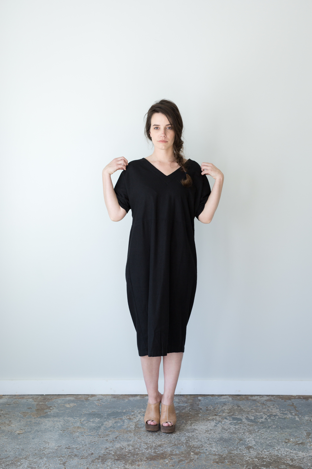 RAW SILK COCOON DRESS