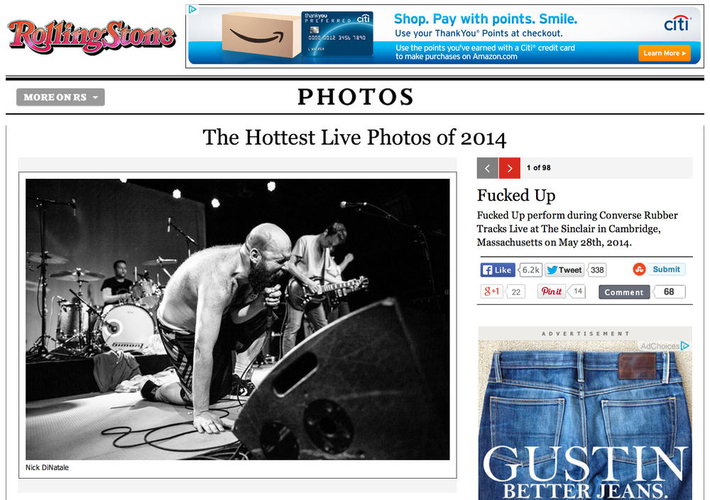 Rolling Stone - May 29th, 2014   The Hottest Live Photos of 2014