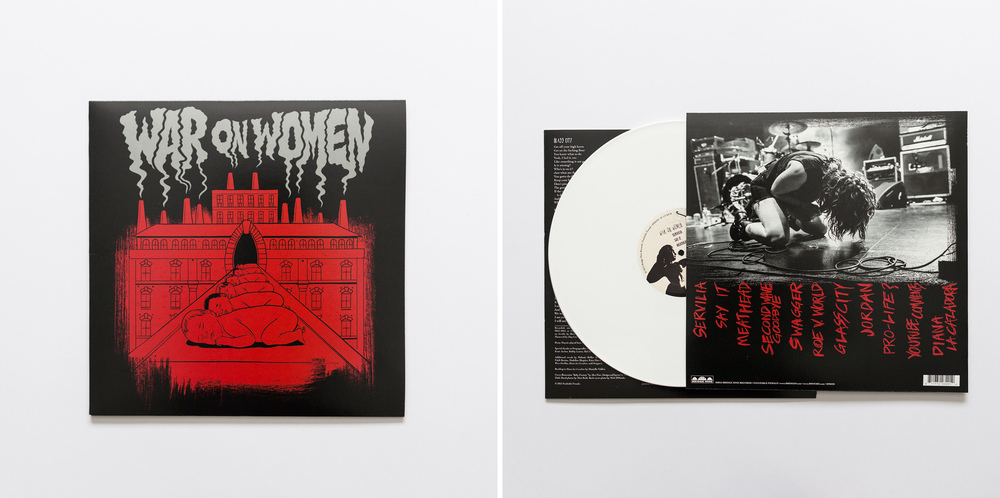 War On Women -  Self-Titled  LP via Bridge Nine Records Rear cover photo