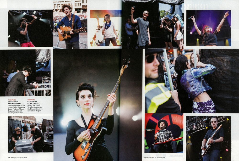 Boston Magazine - August, 2015  Boston Calling: All Access , pg. 88 & 89  & online