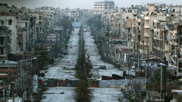 Ruínas de Aleppo, na Síria.