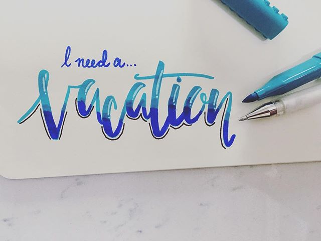 Anyone else feeling this? #handlettering #moderncaligraphy #vacation #oceanvibes