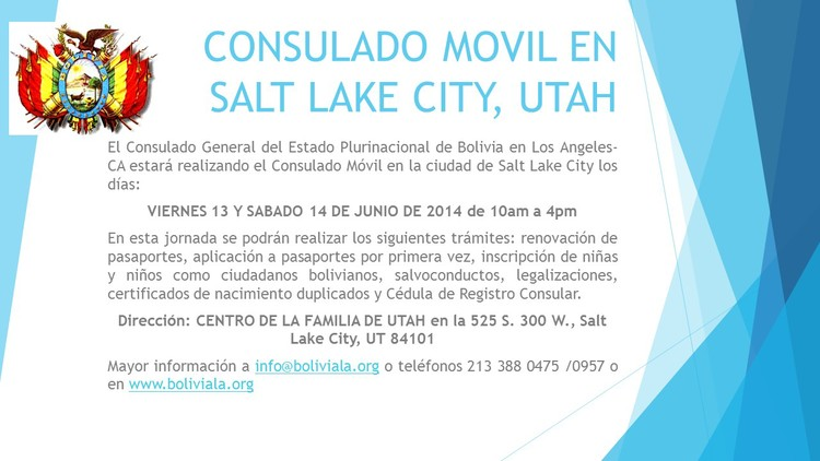 Consulado Móvil en Salt Lake City, Utah — CONSULADO GENERAL DE ...