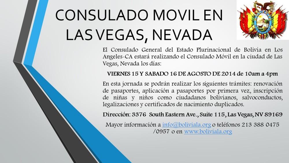 Noticias — CONSULADO GENERAL DE BOLIVIA EN LOS ANGELES, CALIFORNIA
