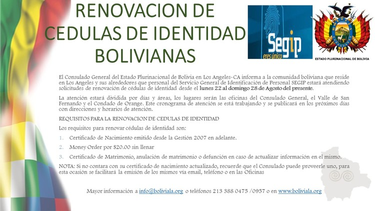 Noticias — CONSULADO GENERAL DE BOLIVIA EN LOS ANGELES, CALIFORNIA
