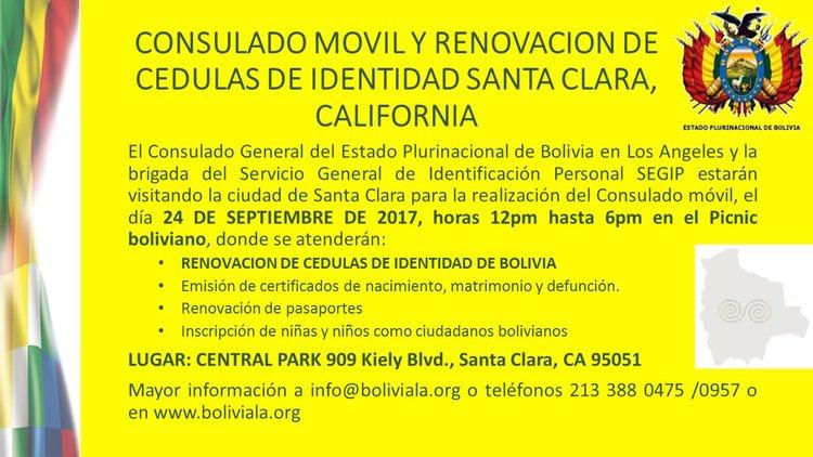 CONSULADO MOVIL SANTA CLARA, CALIFORNIA SEPTIEMBRE 2017 — CONSULADO ...
