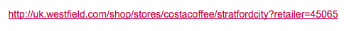 This URL has ?retailer= (no ?)