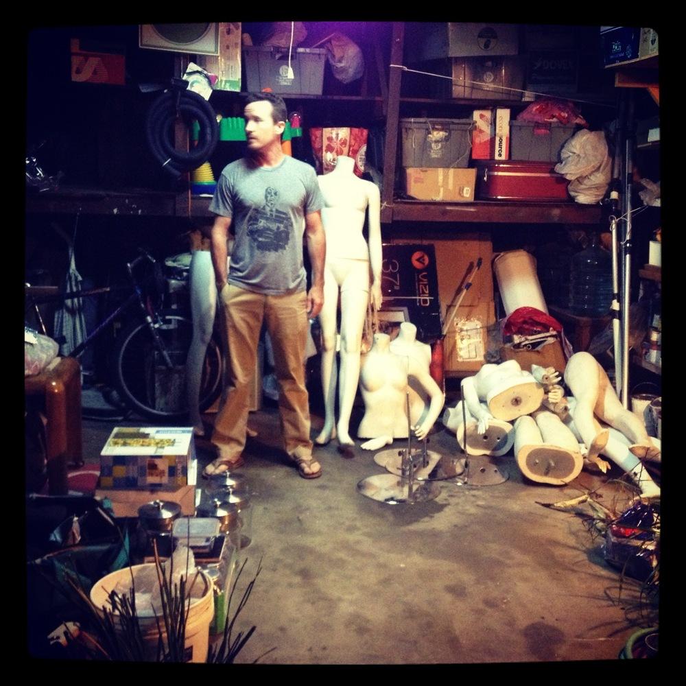 Cam in our studio/garage/storage space.