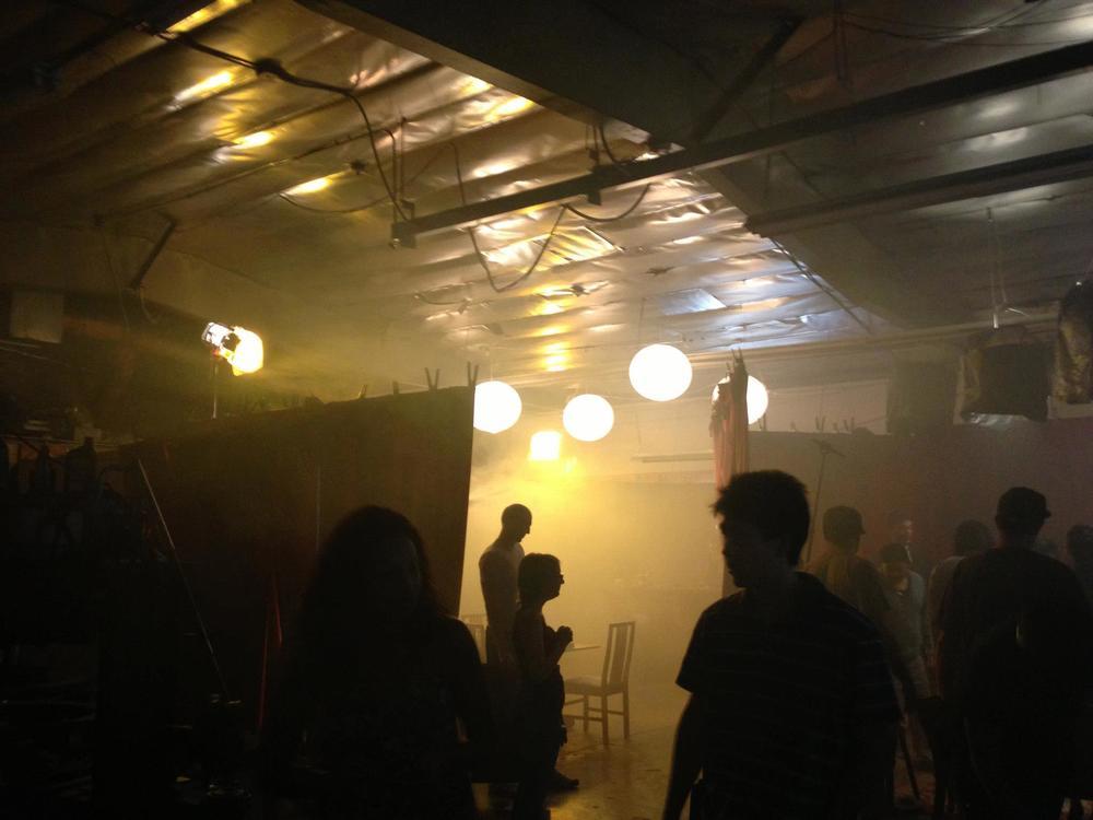 Fogging up the night club.