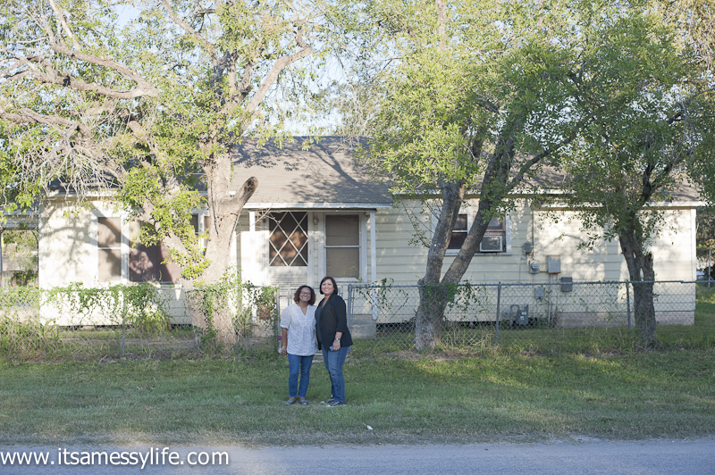 Here's me & my sister in front of the house where I was born (yup, I was born in there) and grew up in until I was 10 years old.
