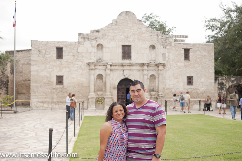 At the Alamo in San Antonio with my love!