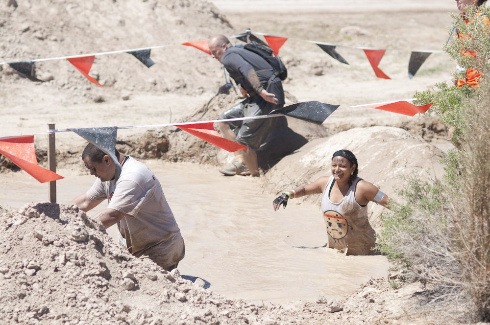 Because no post can be without a photo! Here's me having a super fun time in the mud at Tough Mudder!
