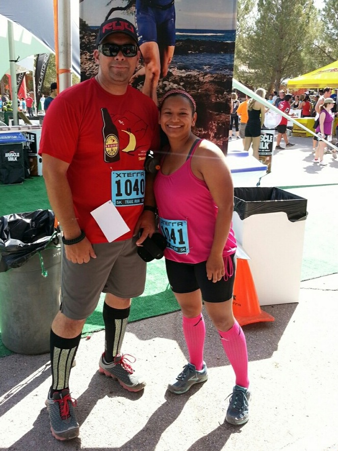 Post-race with my hubby!  I love that he'll be running a few races with me this year!! It makes running that much more fun :)