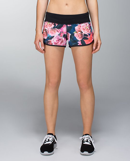 These spring floral print shorts from Lululemon will take you right into summer!