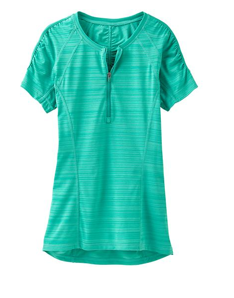 Not only do I love the color of this Pacifica tee by Athletica, but I love that it is UPF 50+ for sun protection & is made from unstinkable technology fabric!
