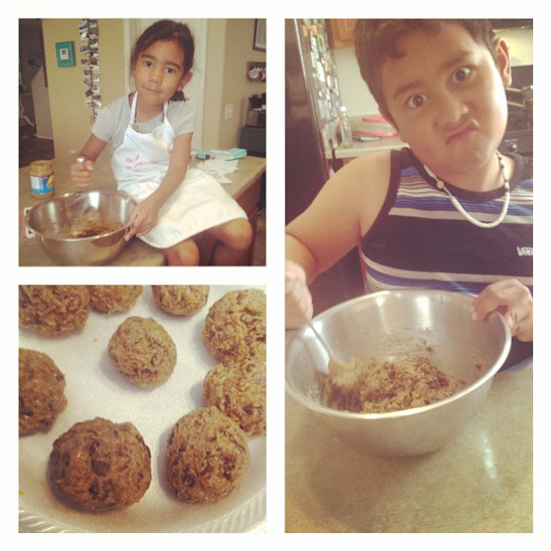 Making easy  Lexi's Clean Kitchen  no-bake nut-free Powerbites! Check out the  recipe  :) Kids love these!