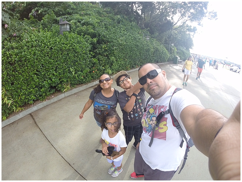 Family Selfie as we walked into the park! Let the fun begin!!