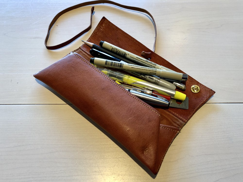Leather Pencil/Pen Roll