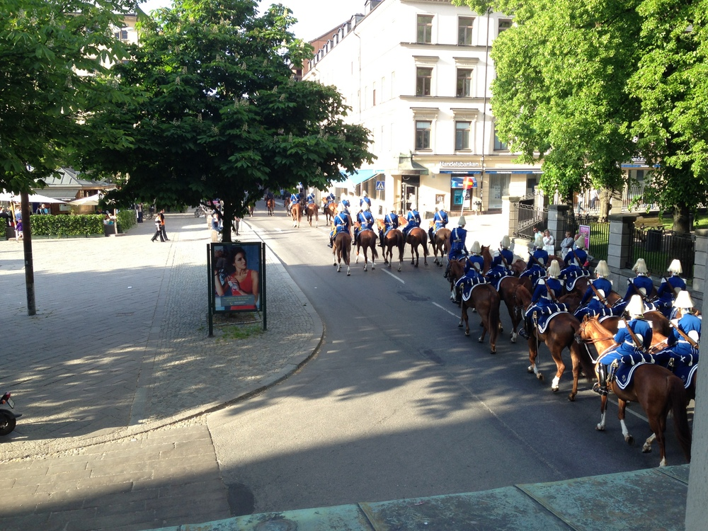 View of Royal Guards on horses from my apartment