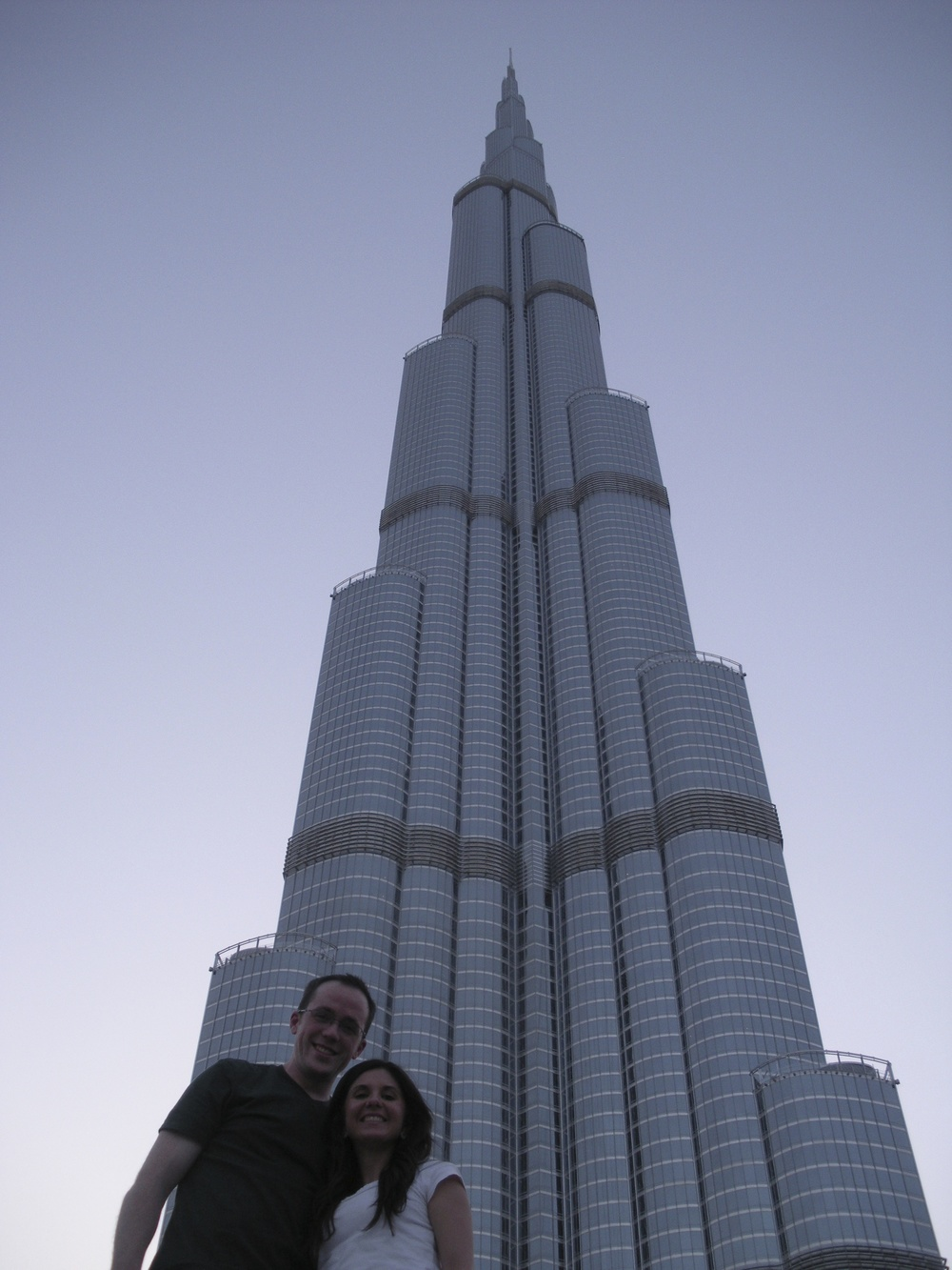 Whitney and I at the base of the Burj Khalifa