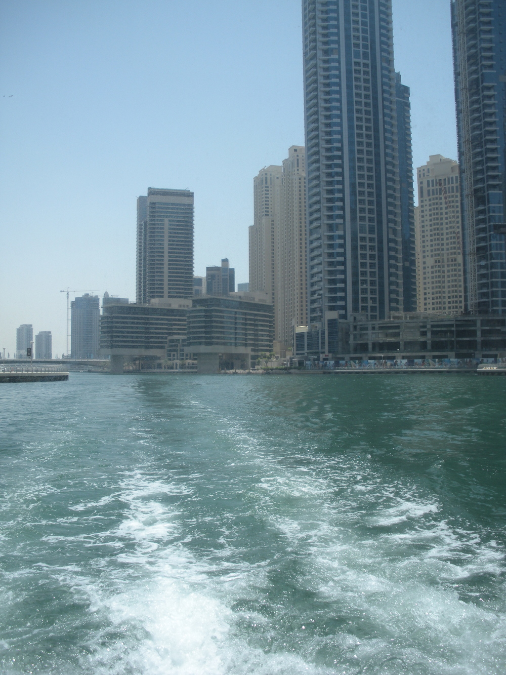 View from the back of the water taxi