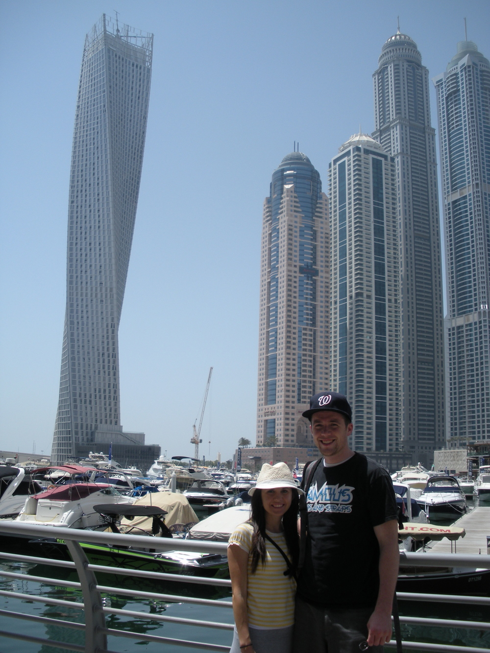 The Infinity Tower is on the left and the Princess Tower is the tallest one on the right.