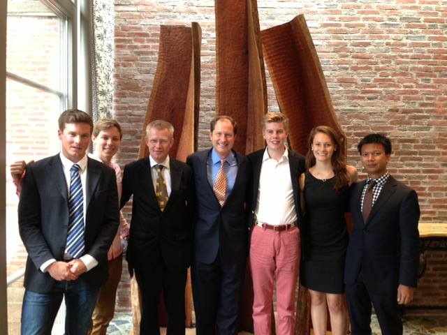 Ambassador Brzezinski, Göran Pettersson and his interns, and myself!